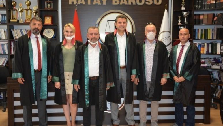 72 Barodan Hatay Barosu Başkanı'na Destek
