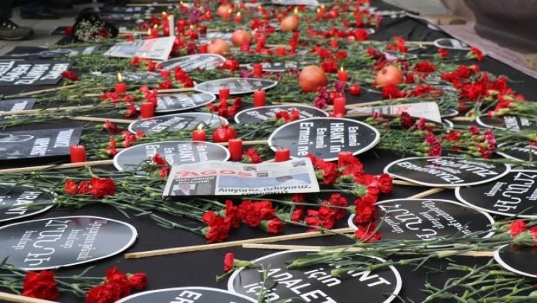 Agos Gazetesi Genel Yayın Yönetmeni Hrant Dink, katledilişinin 14'üncü yılında anıldı