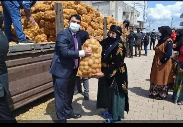 AK Partili Şamil Tayyar'dan patates dağıtımını şova çeviren kaymakama: Hadsiz!