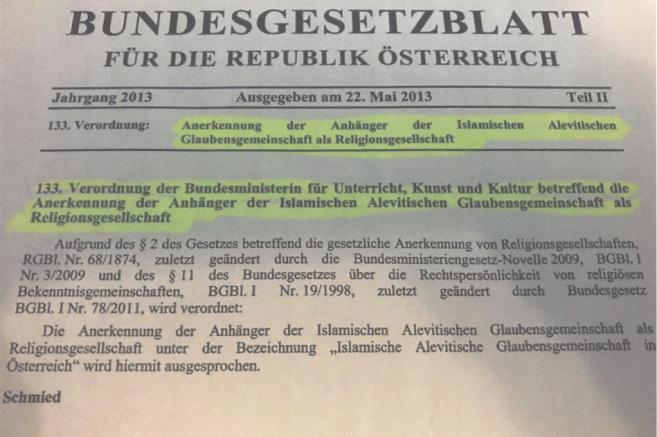 Avusturya'da Alevilik İslamın bir mezhebi olarak tanındı
