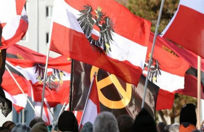 Avusturya'da Hükümet sağcı göstericilere tolerans gösteriyor!