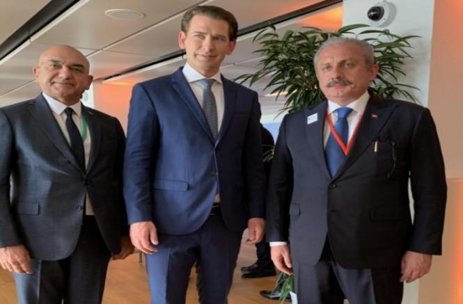 Başbakan Sebastian Kurz, TBMM Başkanı Şentop ile bir görüşme gerçekleştirdi