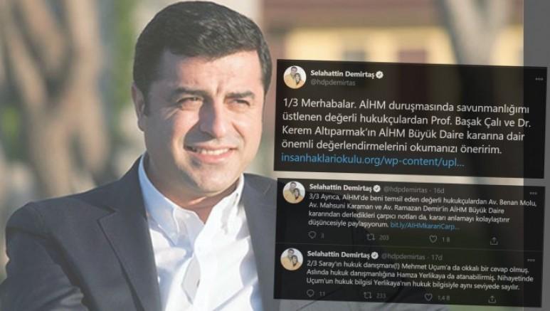 Demirtaş'tan, avukatlarının AİHM kararı değerlendirmesi: Mehmet Uçum'a okkalı bir cevap olmuş
