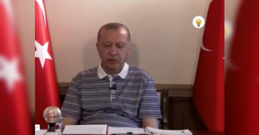 Erdoğan, 'bayramlaşma' videosunda uyudu (VİDEO)