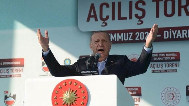 Erdoğan Diyarbakır'da HDP'li belediyeleri suçladı