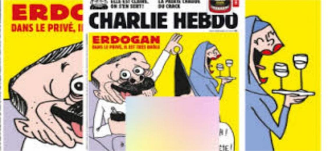 Fransız Charlie Hebdo dergisi bu sefer Erdoğan'ı çizdi