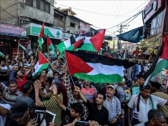 Gazze'de 1 Temmuz'da onbinler haykırdı: FİLİSTİN, EMPERYALİZME, SİYONİZME, İŞGALE BOYUN EĞMEYECEK!