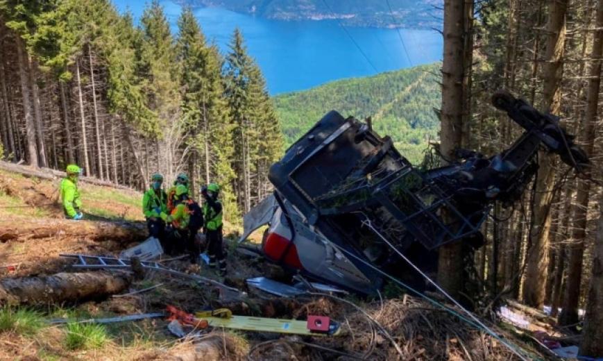 İtalya'da teleferik kazasında can kaybı 14'e yükseldi
