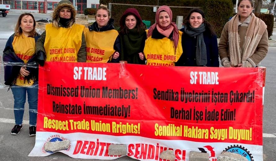 İzmir'de SF Trade Tekstil'de Kadınların direnişi 111 gündür devam ediyor