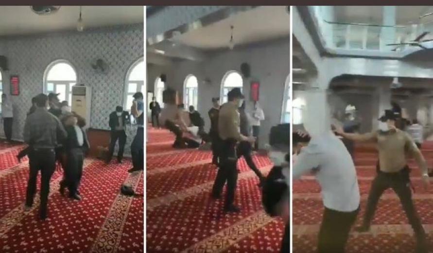 Polisten camide itikaf yapmak isteyen Furkan Vakfı üyelerine biber gazlı müdahale(VİDEO)