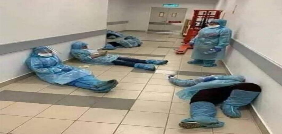 Sağlık Çalışanları Bizim İçin Yaşamını Tehlikeye Atıyor
