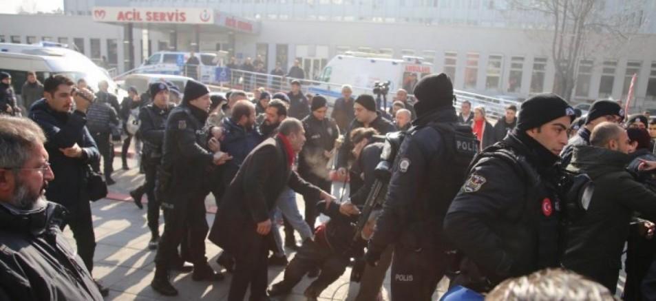 Sağlıkta Şiddete Son eylemine Polis Şiddeti damgasını vurdu