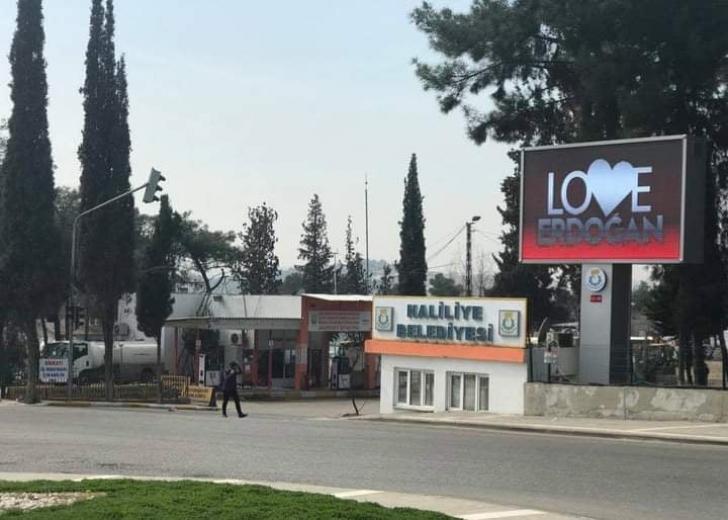 Şanlıurfa'da 'Love Erdoğan'görselli