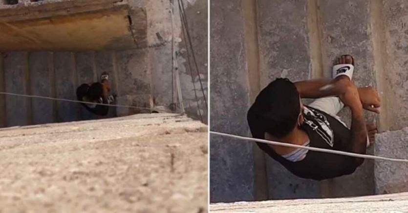 Urfa'da skandal görüntü: Gündüz vakti sokakta uyuşturucu kullandı