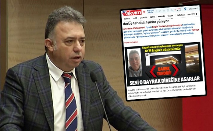 Yandaş Takvim ölüm tehdit etti: Seni o bayrak direğine asarlar