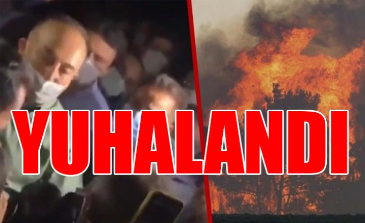 Yangın bölgesinde Mevlüt Çavuşoğlu'na büyük tepki: Memleket yandı (VİDEO)