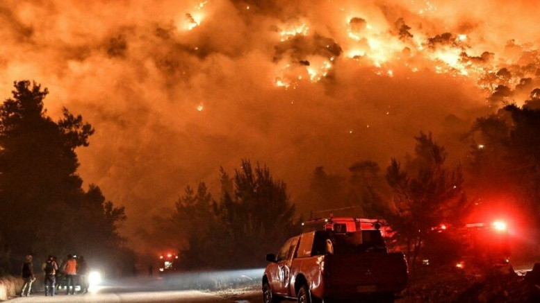 Yunanistan'da çıkan orman yangınlarında 10 ev yanarak kül oldu