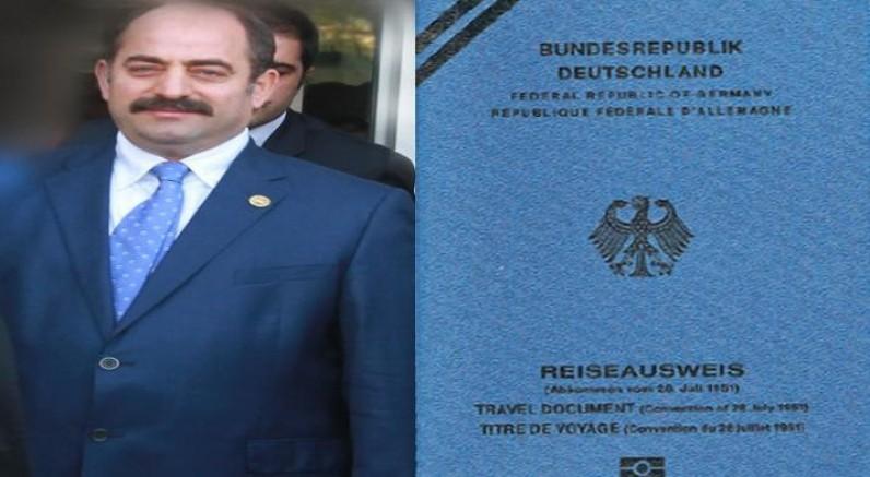 Zekeriya Öz'e Almanya'dan yeni pasaport