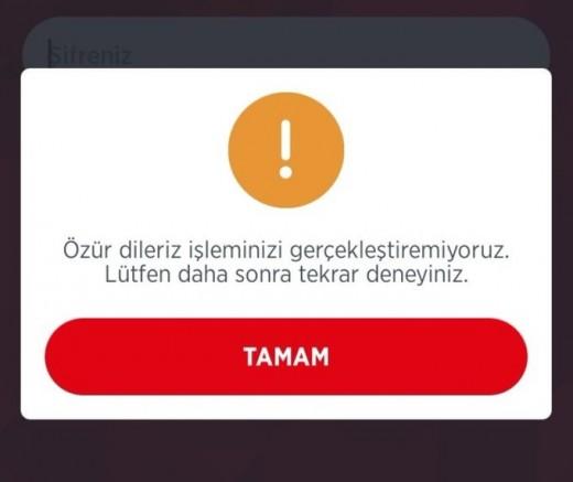 Ziraat Bankası mobil uygulaması çöktü